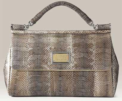 Dolce & Gabbana Miss Sicily Snakeskin Handbag dolce and gabbana miss...